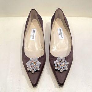 ⚡️12 HR Sale ⚡️Jimmy Choo Satin Jewel Flats